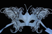 Venetian Grand Majestic Butterfly Design Laser Cut Masquerade Mask Vibrantly Decorated and Intricately Detailed