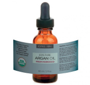 Idris Ibn Argan Oil - 100% Pure Organic Treatment for Hair, Face, and Nails - USDA and ECOCERT Certified 30ml - Product of Morocco