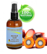 """RED PALM OIL 100% Pure / Natural / Undiluted Cold Pressed Carrier Oil. 4 fl.oz-120ml. Face, Body, Hair, Lip and Nail Care. """"One the richest natural sources of vitamin A and E."""" by Botanical Beauty"""