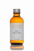 NEW! Vitamin C Prep & Tone- Skin toner and prep for chemical peels, moisturisers, creams & serums. Balance pH levels, minimise pores, and remove excess dirt, oil, and make up. (2 oz) Vitamin C Formula