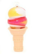 Lotta Luv~ice Cream Lip Gloss Necklace Vanilla Sprinkles Flavour Cone Shaped