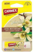 Carmex VANILLA Ultra Moisturising Lip Balm SPF15 For Dry, Cracked Lips 4.25g