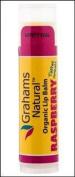 Organic Lip Balm Raspberry Graham's Natural .440ml Lip Balm