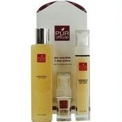 Skin Essentials 3 Step System : Purifying Rice Face Wash 200ml + Hydrodrench Moisturising Gel Cream 50ml + Multi-effe