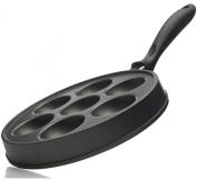 Norpro Nonstick Cast Aluminium Danish Aebleskiver Filled Pancake Pastry Pan New