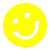 Smiley Face Tanning Bed Stickers 100 Pack