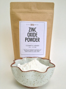 Zinc Oxide Powder - Micronized Non-nano - Cosmetic Grade Perfect for Making Natural Sunscreen, Sunblock, Home-made Deodorant, Soap, Mineral Make Up, Baby Powder, Nappy Rash Cream & Acne Creams - FDA Certified.