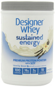 Designer Whey Sustained Energy - Premium Protein Powder with Soy