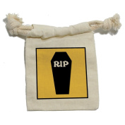 RIP Coffin - Halloween Treats Cemetary Muslin Cotton Gift Party Favour Bags