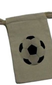 Soccer Ball - Birthday Boy Girl Sports Muslin Cotton Gift Party Favour Bags