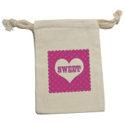 Sweet Heart Polka Dots - Wedding Bridal Shower Valentines Love Muslin Cotton Gift Party Favour Bags