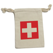 Switzerland Flag - Swiss International Muslin Cotton Gift Party Favour Bags