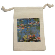 Water Lilies - Claude Monet Muslin Cotton Gift Party Favour Bags