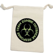 Zombie Outbreak Response Team Green - Birthday Boy Muslin Cotton Gift Party Favour Bags