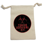 Zombie Survival Kit - Birthday Boy Muslin Cotton Gift Party Favour Bags