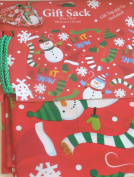 Giant Christmas Gift Sack Gift Bag Snowman 90cm X 110cm Tag & Tie Included