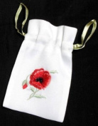 Gift Bag in a Poppy Design. Beautifully embroidered Gift Bags, ideal for seasonal festivals, special occasions, events and celebrations.