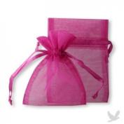 48 Organza Drawstring Pouches Gift Bags 4x5 - Fuchsia