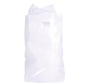 50 ~ White Plastic Bags ~ 22cm X 30cm ~ New ~ Loot Bags, Party Favour Bags