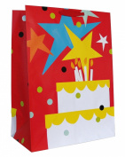 Large Gift Bag Embellished with Stars and Cake | 3KHB 53Q