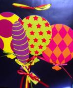 Reflective Blue Giftbag with Balloons