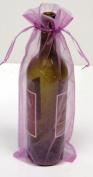 6 Lavender Organza Bags - Bottle/Wine Bags Gift Pouch, 15cm x 36cm