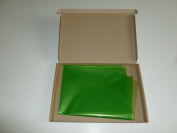 5m x 80cm Tinted Lime Green Cellophane Wrap (folded). Florist Quality / Bouqu...