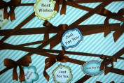 "Gift Wrapping Paper - ""Best Wishes"" Knots"