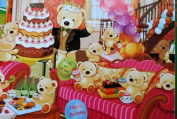 "Gift Wrapping Paper - ""Happy Birthday"" Lovely Bears"