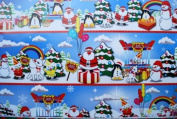 Gift Wrapping Paper - Merry Christmas with Santa & Snow Man