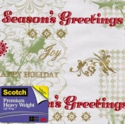 Scotch Gift Wrap, Verbiage on Patterns Pattern, 25-Square Feet, 80cm x 10-Feet