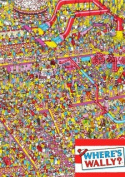 Gemma International Where's Wally Gift Wrap 2 Sheets 2 Tags