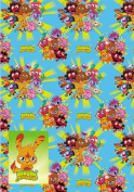 Moshi Moster Wrapping Paper 2 Sheets and 2 Tags