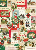 Cavallini & Co. Christmas Cats Decorative Wrapping Paper 20x28