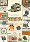 Cavallini & Co. Vintage Typewriters Decorative Decoupage Poster Wrapping Paper Sheet