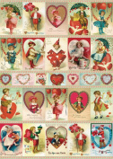 Cavallini & Co. Vintage Valentine's Decorative Wrapping Paper 20x28