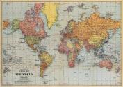 Cavallini & Co. World Map Decorative Wrapping Paper 20x28