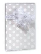 Pearl White Polka Dot Wedding Gift Wrap Paper - 16 Foot Roll Wedding Anniversary