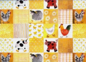 Checkerboard Farm Animals Gift Wrapping Paper