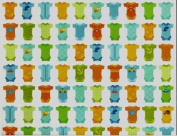 Baby Boy Bunting Rolled Gift Wrap Paper
