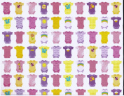 Baby Girl Bunting Rolled Gift Wrap Paper