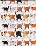 Cats Happy Birthday Gift Wrapping Paper