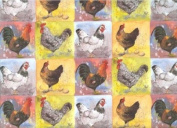 Checkerboard Chickens Gift Wrapping Paper