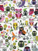 Elegant Owls Reversible Rolled Gift Wrapping Paper