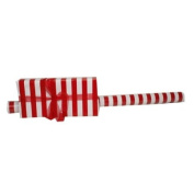 Valentine's Day Red & White Jumbo Striped Wrapping Paper - Stripe 40 sq ft - Sold individually