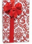 Red & White PAISLEY FLOURISH Gift Wrapping Paper - 16 Foot Roll