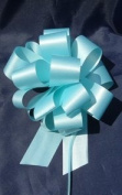 10 Pull String Bows - Gift Wrap Packaging - 13cm 20 Loops - 3.2cm - Baby Blue