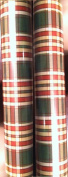 Red & Green Plaid ~ Christmas Gift Wrap ~ 40 Sq. Ft.