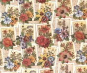 Roses, Daisies , Poppies Rolled Gift Wrap Paper