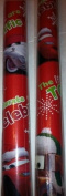 Disney / PIXAR ~ CARS ~ RED Christmas Wrapping Paper 40 Sq. Ft.